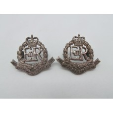Pair of Royal Military Police Officers Dress Collar Badges - Queen's Crown