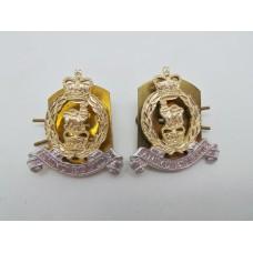 Pair of Adjutant General Corps Anodised (Staybrite) Collar Badges