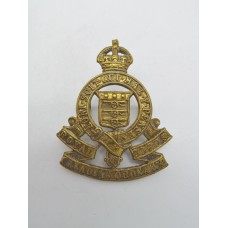 Royal Canadian Army Ordnance Corps Cap Badge - King's Crown