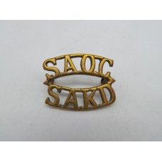 South African Army Ordnance Corps (S.A.O.C. / S.A.K.D.) Shoulder Title