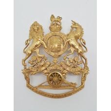 Edward VII Royal Artillery Officer's Blue Cloth Helmet Plate