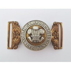 Victorian North Staffordshire Regiment Officers Waist Belt Clasp (Post 1881)