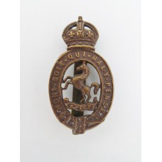 East Kent Yeomanry Cap Badge - King's Crown