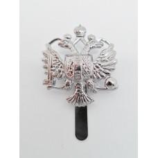 Queen's Dragoon Guards Chrome Cap Badge