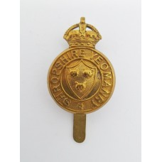 Shropshire Yeomanry Cap Badge - King's Crown (Non Voided Centre)