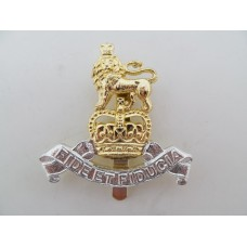 Royal Army Pay Corps (R.A.P.C.) Anodised (Staybrite) Cap Badge - Queen's Crown