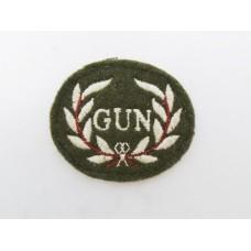 British Army Rarden Gunner Cloth Trade Badge