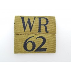 West Riding Home Guard Printed Arm Badge Insignia (WR 62)
