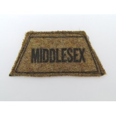 Middlesex Regiment (MIDDLESEX) Cloth Printed Slip On Shoulder Title