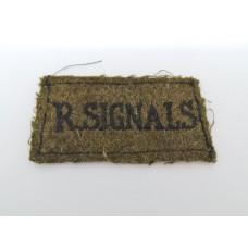 Royal Signals (R.SIGNALS) Cloth Slip On Shoulder Title