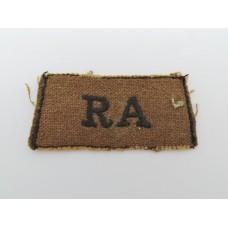 Royal Artillery (R.A.) Cloth Embroidered Slip On Shoulder Title