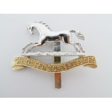 Queen's Own Hussars Anodised (Staybrite) Cap Badge