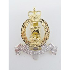 Adjutant General Corps Anodised (Staybrite) Cap Badge - Queen's C