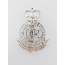 Royal Military Academy Sandhurst Anodised (Staybrite) Cap Badge - Queen's Crown
