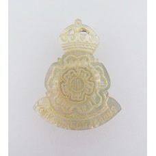 Yorkshire Dragoons Mother of Pearl Sweetheart Brooch - King's Crown