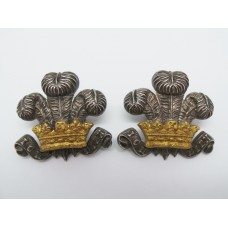 Pair of 3rd Dragoon Guards Officer's Collar Badges