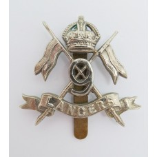 9th Queen's Royal Lancers Cap Badge - King's Crown