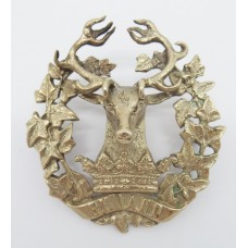 Gordon Highlanders Officer's Unmarked Silver Cap Badge