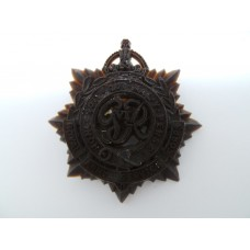 Royal Army Service Corps (R.A.S.C.) WW2 Plastic Economy Cap Badge