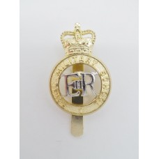 Royal Military School Anodised (Staybrite) Cap Badge - Queen's Crown