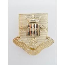 University of Sheffield O.T.C. Anodised (Staybrite) Cap Badge