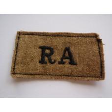 Royal Artillery (R.A.) Cloth Slip On Shoulder Title