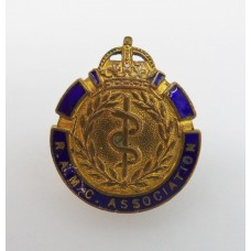 Royal Army Medical Corps (R.A.M.C.) Association Enamelled Lapel Badge - King's Crown