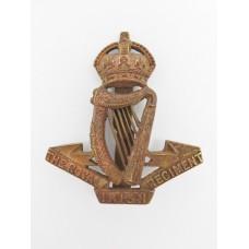 Royal Irish Regiment Officer's Service Dress Cap Badge - King's Crown