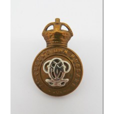 7th Queen's Own Hussars Collar Badge - King's Crown