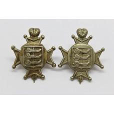 Pair of Cinque Ports Volunteer Rifles Collar Badges