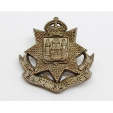 East Surrey Regiment WW2 Plastic Economy Cap Badge