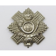 Highland Light Infantry (Long Scroll) Silver Plated Cap Badge - King's Crown