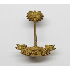 Royal West African Frontier Force (R.W.A.F.F.) Officer's Gilt Collar Badge