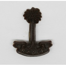 Royal West African Frontier Force (R.W.A.F.F.) WW2 Plastic Economy Cap Badge