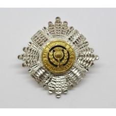 Scots Guards RSM's Silver, Gilt & Enamel Cap Badge