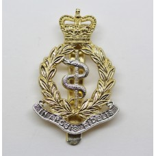 Royal Army Medical Corps (R.A.M.C.) Anodised (Staybrite) Cap Badge - Queen's Crown