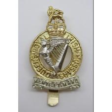 Queen's Royal Irish Hussars Anodised (Staybrite) Cap Badge - Queen's Crown
