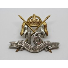16th Queen's Lancers Officer's Dress Collar Badge - King's Crown
