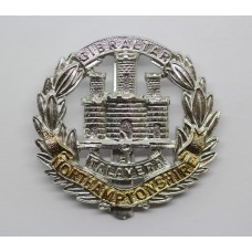 Northamptonshire Regiment Anodised (Staybrite) Cap Badge