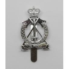 Royal Pioneer Corps Anodised (Staybrite) Cap Badge - Queen's Crown