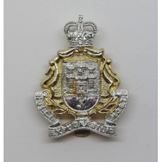 Gibraltar Regiment Anodised (Staybrite) Cap Badge - Queen's Crown
