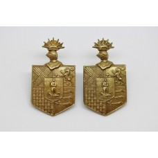 Pair of 19th County of London Bn (St. Pancras) London Regiment Collar Badges