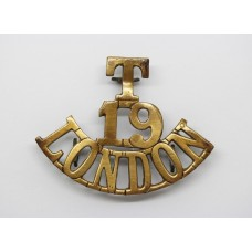 19th Bn (St. Pancras) London Regiment (T/19/LONDON) Shoulder Titl