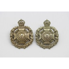 Pair of 8th City of London Bn (Post Office Rifles) London Regiment Collar Badges