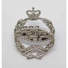 Royal Tank Regiment Anodised (Staybrite) Cap Badge - Queen's Crown