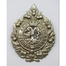 Argyll & Sutherland Highlanders Silver Plated Cap Badge