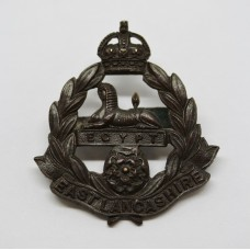 East Lancashire Regiment Officer's Service Dress Cap Badge - King
