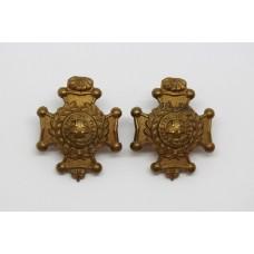 Pair of Royal Sussex Regiment Collar Badges