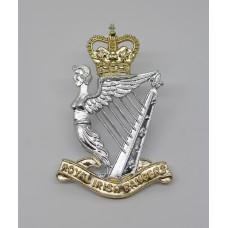 Royal Irish Rangers Anodised (Staybrite) Cap Badge - Queen's Crown