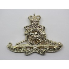 Royal Artillery Anodised (Staybrite) Cap Badge - Queen's Crown